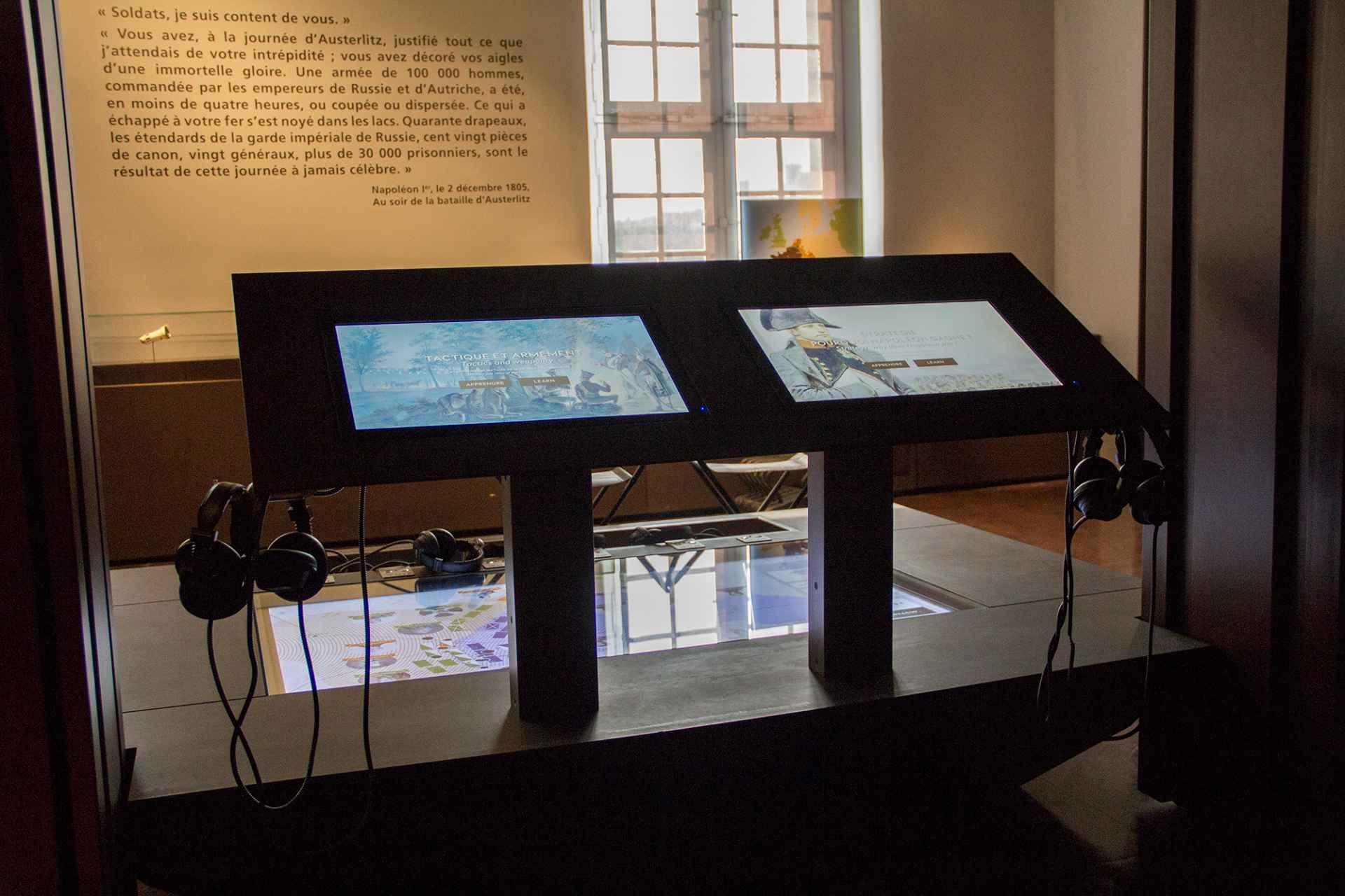 Nouveau parcours multimédia du département moderne du Musée de l'Armée.