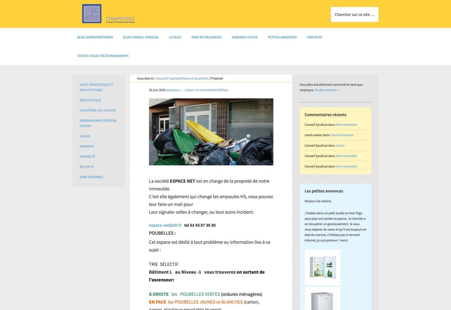 page accueil du blog 17bdPicpus