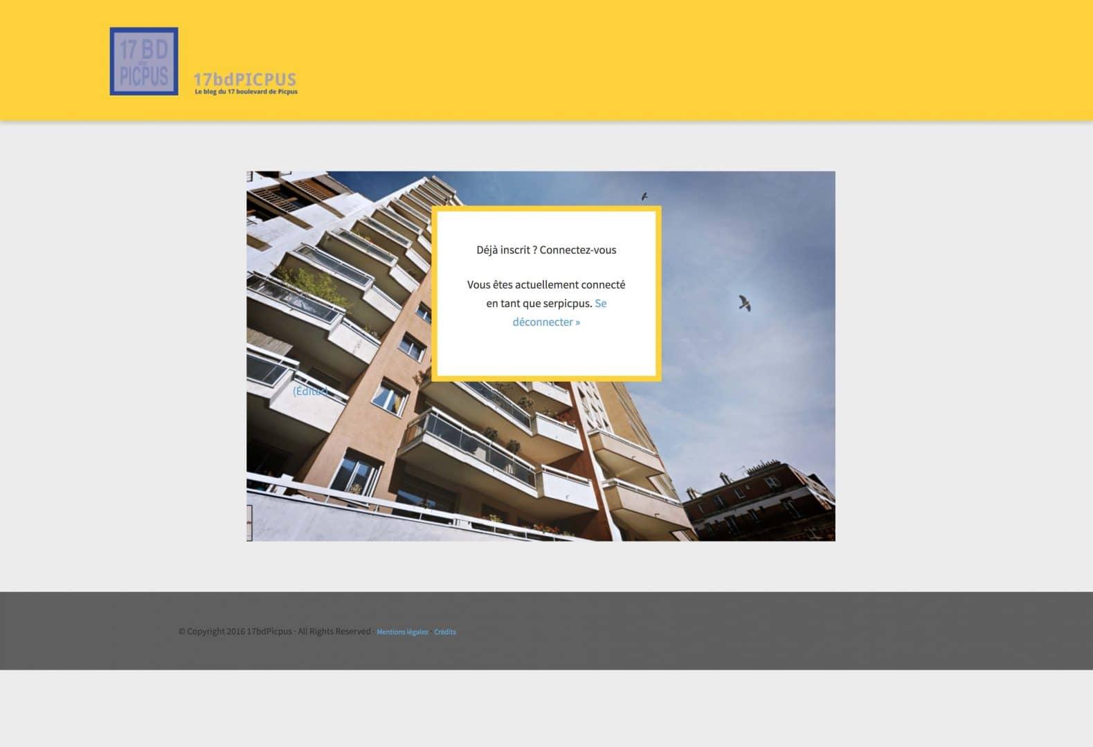 page du blog des résidents du 17 Boulevard de Picpus