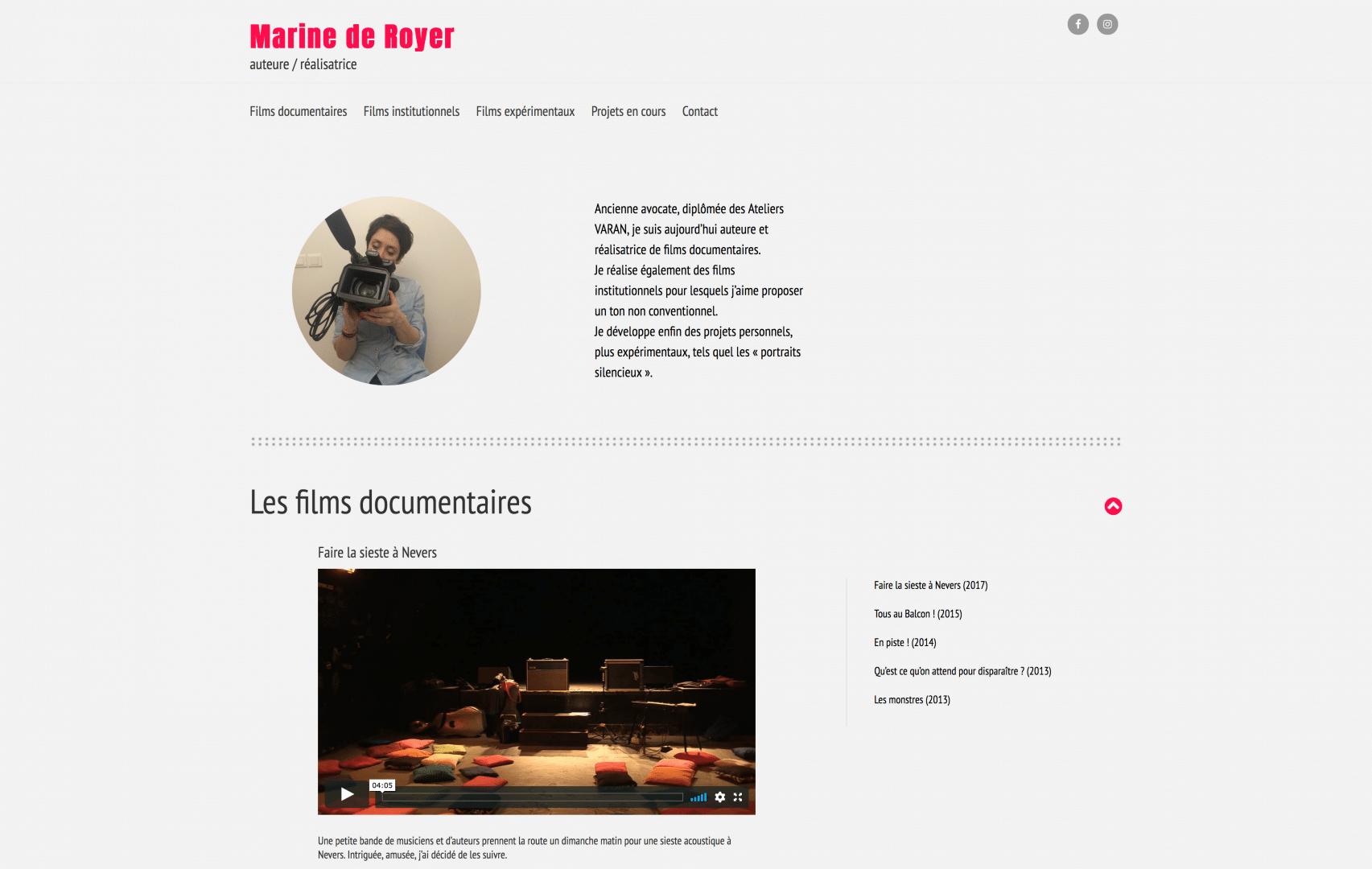 page du site de Marine de Royer
