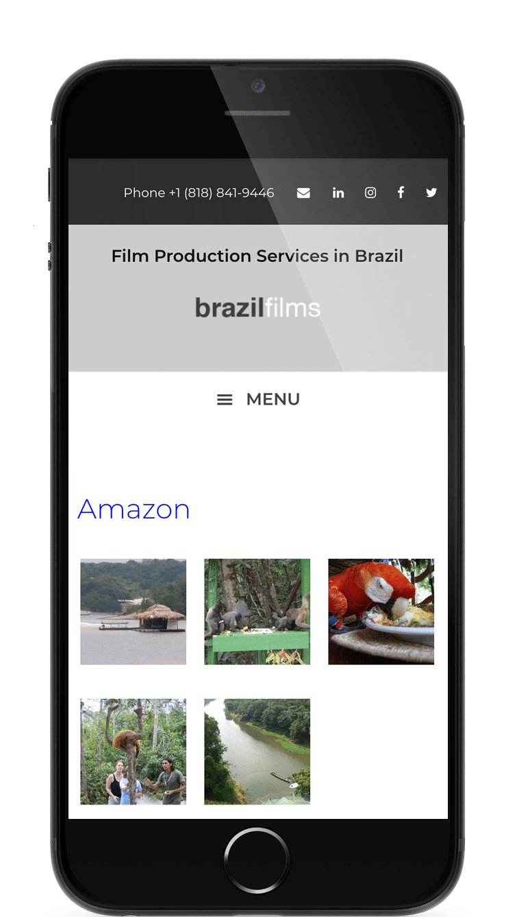 Site Web Film Production Services in Brazil - Los Angeles