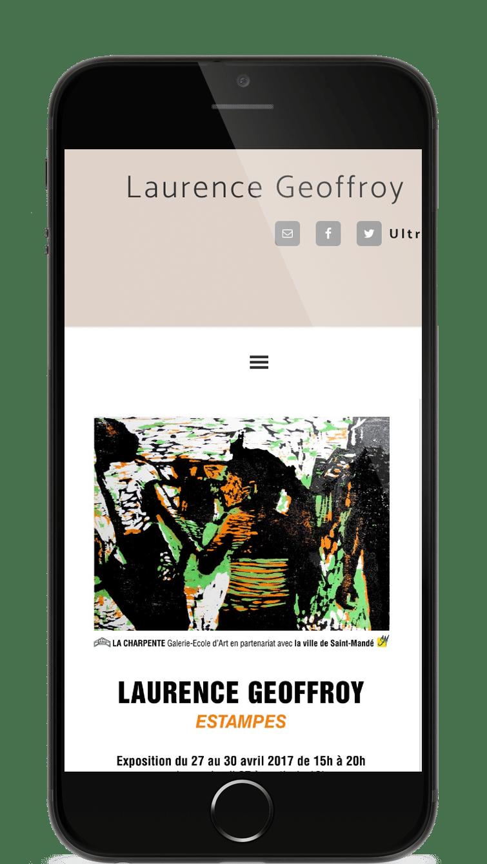 Visuel de la page d'accueil du site de Laurence Geoffroy - artiste